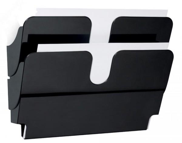 DURABLE Wand-Prospekthalter-Set ´FLEXIPLUS 2´, A4, 2 Fächer
