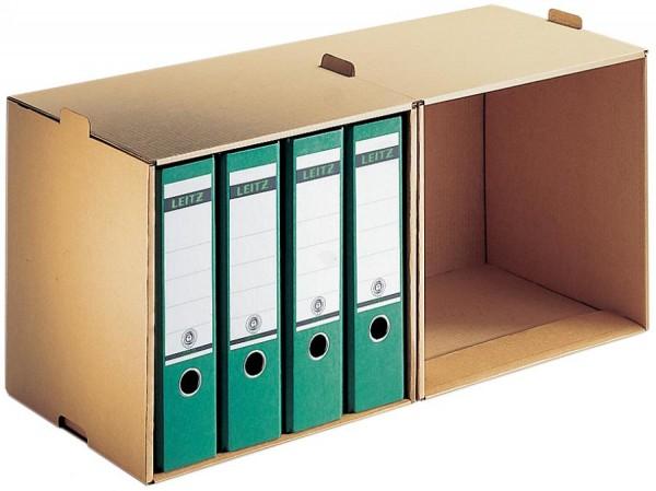 LEITZ Ordner-Archiv, 2 Fächern, aus Wellpappe, natron