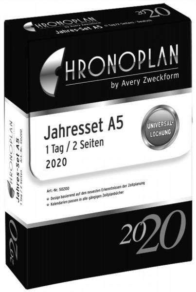 CHRONOPLAN Jahres-Set 2020, DIN A5
