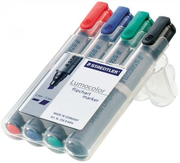 STAEDTLER Lumocolor Flipchart-Marker 356B, 4er Etui
