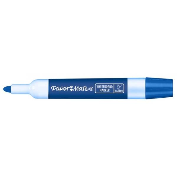 Paper:Mate Whiteboard-Marker, Rundspitze, blau