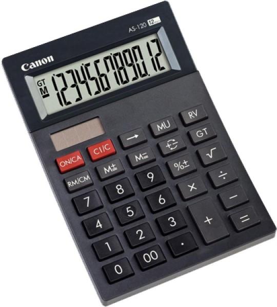 Canon Tischrechner AS-120, Solar-/ Batteriebetrieb