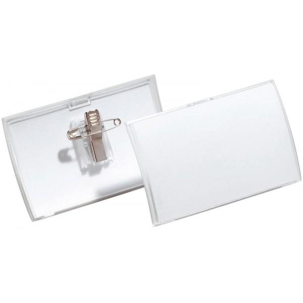 DURABLE Namensschild Click Fold, mit Kombiklemme, 75 x 40 mm