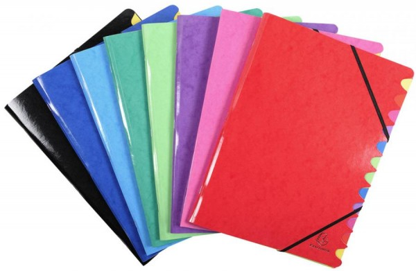 EXACOMPTA Ordnungsmappe Iderama, 12 Fächer, farbig sortiert