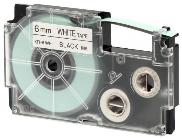 CASIO XR Schriftbandkassette, schwarz auf grün, 6 mm / 8 m