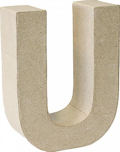 KNORR prandell 3D-Buchstabe ´U´, Pappmaché, 175 x 55 mm
