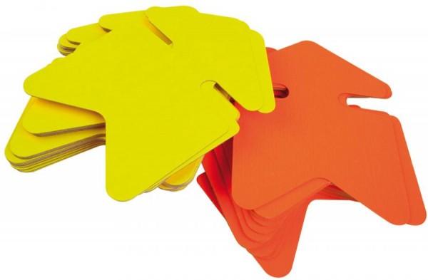 agipa Symbol-Etiketten ´Pfeil´, gelb/orange, 120 x 160 mm