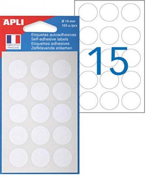 agipa Markierungspunkte, Durchmesser: 19 mm, rund, weiß