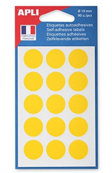 agipa Makierungspunkte, Durchmesser: 19 mm, gelb