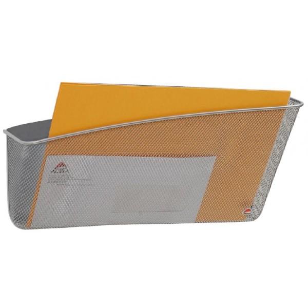 ALBA Wand-Prospekthalter ´MESHFILEMAG´, A4, grau, quer