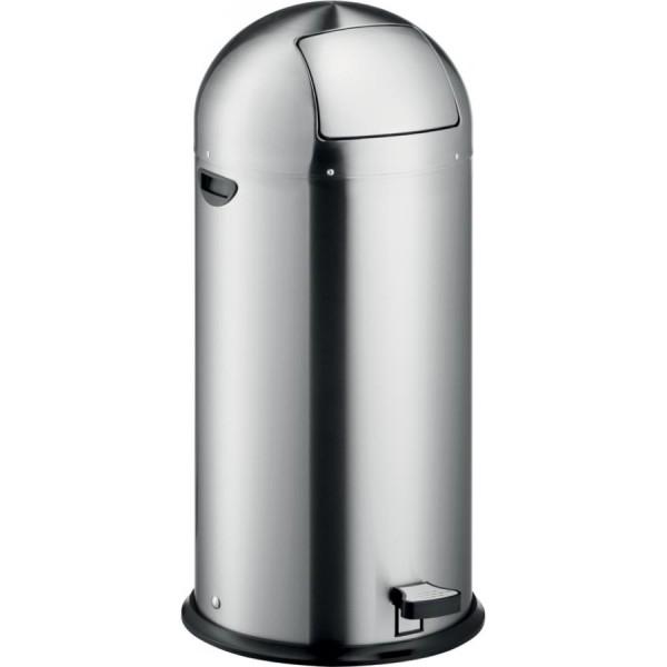 helit Tret-Abfalleimer ´the step dome´, 52 Liter, silber
