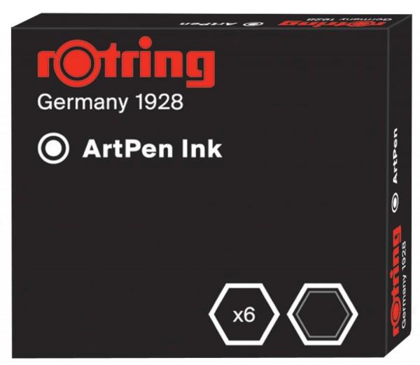 rotring Kalligraphie-Tintenpatronen, schwarz