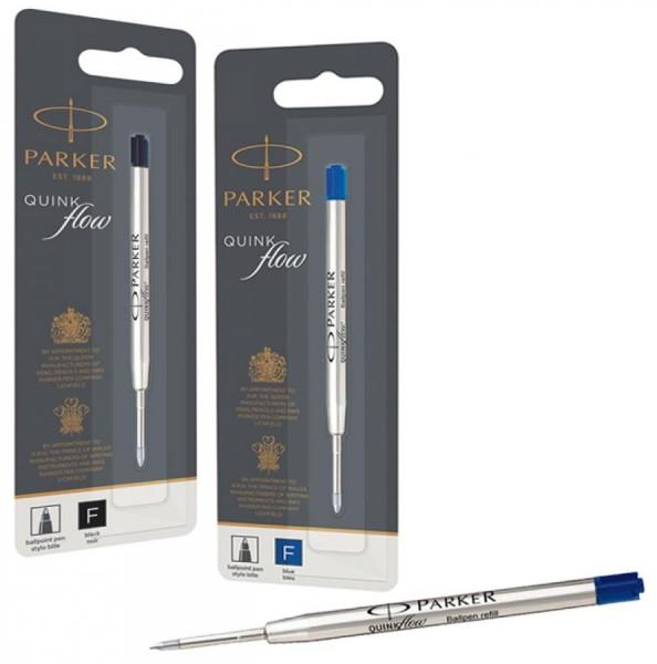 PARKER Kugelschreiber-Mine QUINKflow, F, blau, Blister