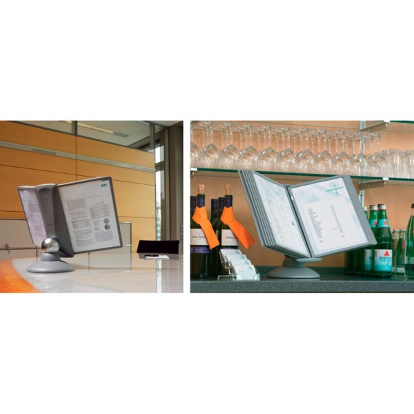 DURABLE Display-System SHERPA MOTION, Komplett-Set, graphit