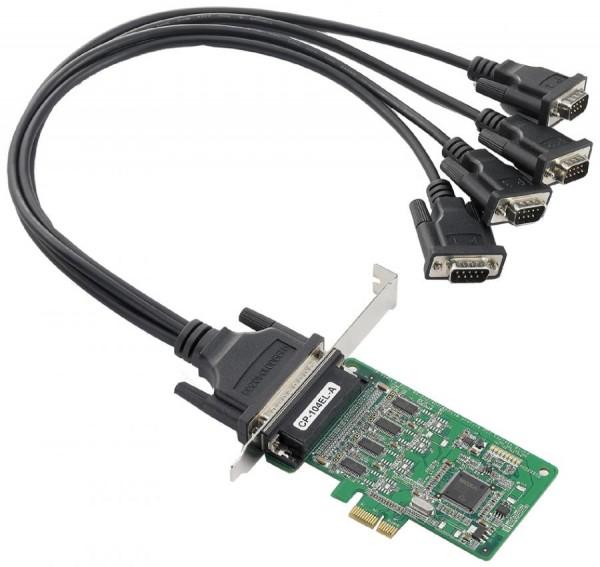MOXA Serielle RS-232 PCI-Express Karte, 4 x 9 Pol Sub-D