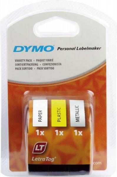 DYMO LetraTag Schriftbandkassette, Starter Pack