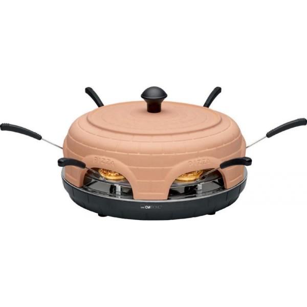 CLATRONIC Pizzaofen PO 3682, terrakotta/schwarz