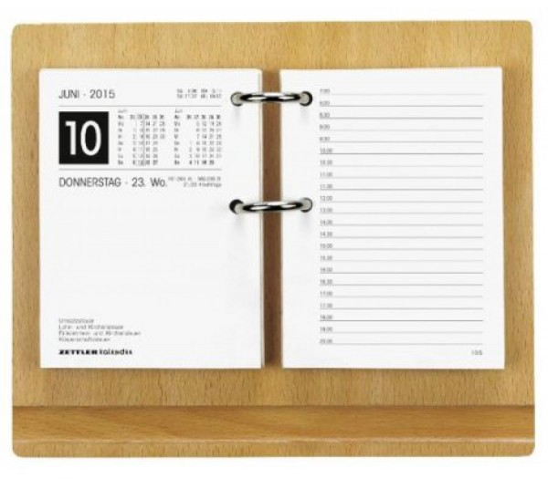 Zettler Kalenderständer ohne Block - 18,5 x 15,5cm, Buche hell