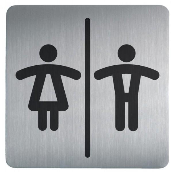DURABLE Piktogramm PICTO ´WC Damen und Herren´, quadratisch