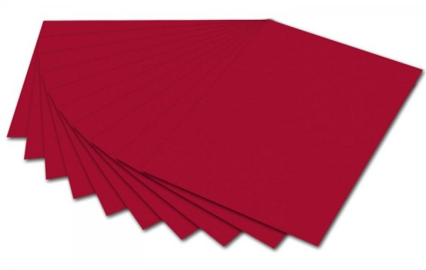 folia Fotokarton, DIN A4, 300 g/qm, ziegelrot