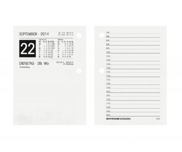 Zettler Ersatzumlegeblock - 1 Tag / 2 Seiten, 8 x 11 cm