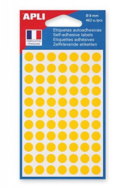 agipa Markierungspunkte, Durchmesser: 8 mm, rund, gelb