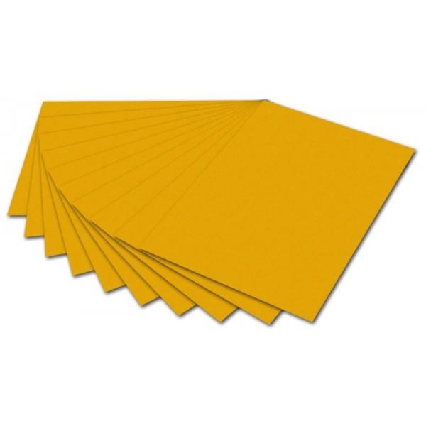 folia Fotokarton, DIN A4, 300 g/qm, dunkelgelb