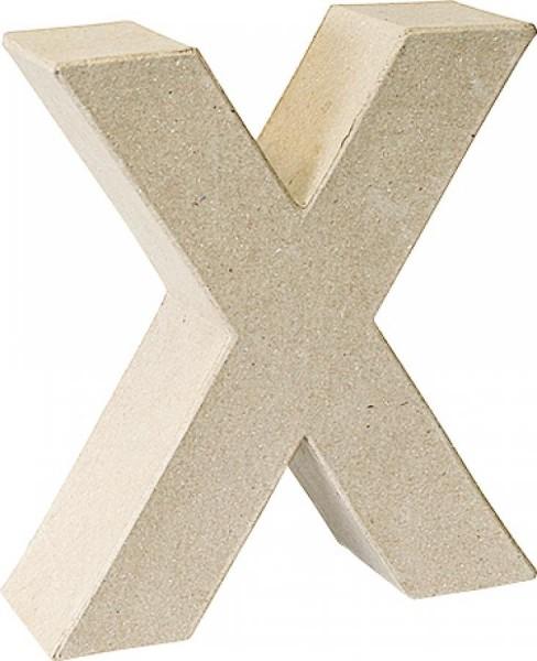 KNORR prandell 3D-Buchstabe ´X´, Pappmaché, 175 x 55 mm