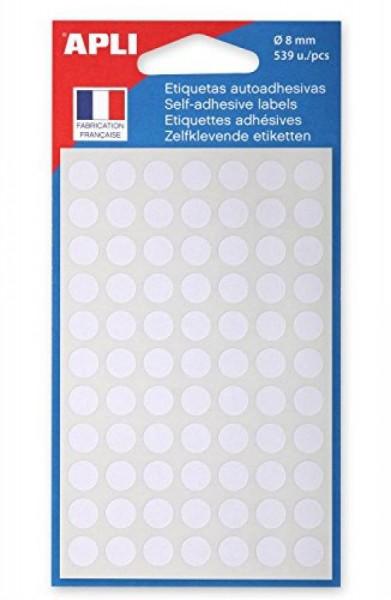 agipa Markierungspunkte, Durchmesser: 8 mm, rund, weiß