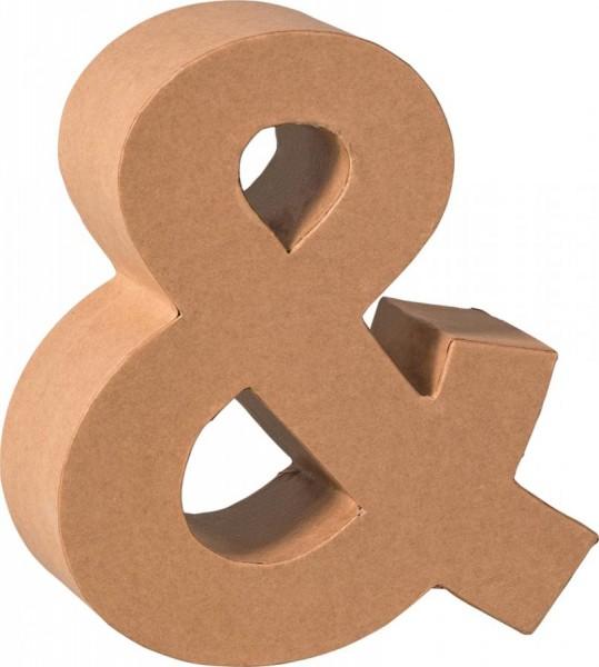 KNORR prandell 3D-Buchstabe ´&´, Pappmaché, 175 x 55 mm