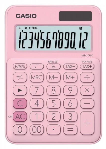 CASIO Tischrechner MS-20UC-PK, pink