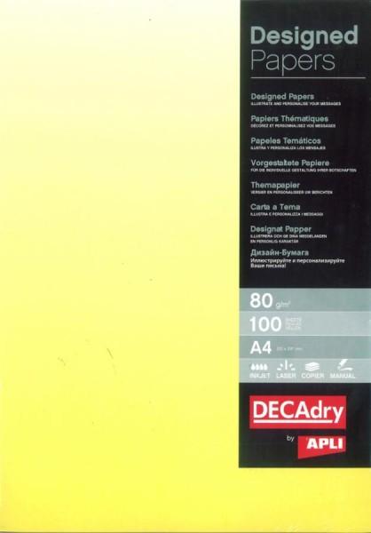 agipa Design-Papier, DIN A4, 80 g/qm, Farbverlauf gelb