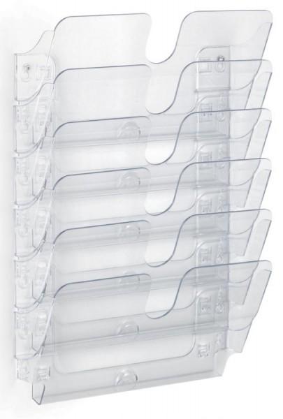 DURABLE Wand-Prospekthalter-Set ´FLEXIPLUS 6´, A4, 6 Fächer
