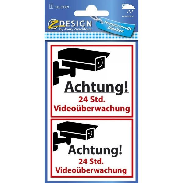 AVERY Zweckform ZDesign Hinweisschild ´Videoüberwacht´, SK