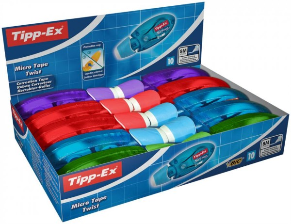 Tipp-Ex Korrekturroller ´Micro Tape Twist´, Display