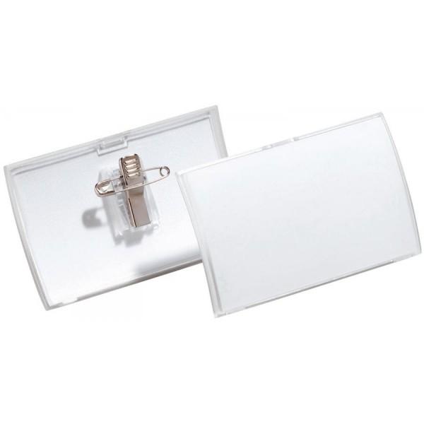 DURABLE Namensschild Click Fold, mit Kombiklemme, 90 x 54 mm