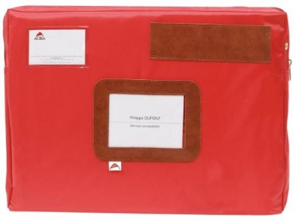 ALBA Banktasche ´POCSOU R´ mit Dehnfalte, aus Nylon, rot
