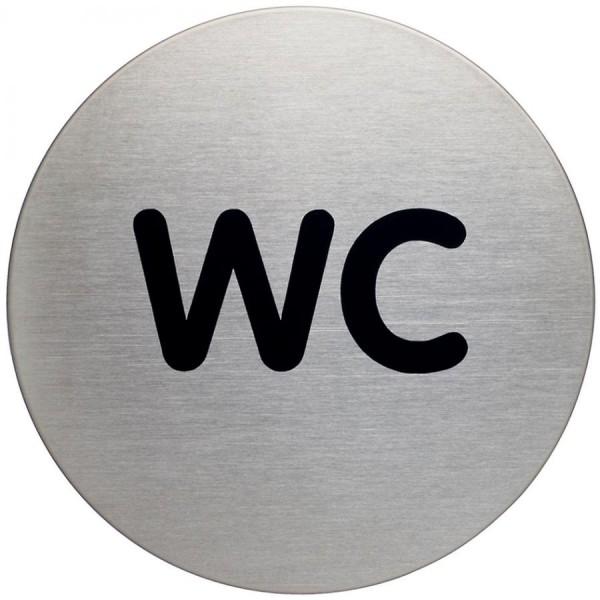 DURABLE Piktogramm ´WC´, Durchmesser: 83 mm, silber