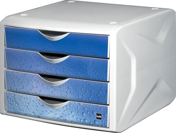 helit Schubladenbox Chameleon, 4 Schübe, Dekor technology