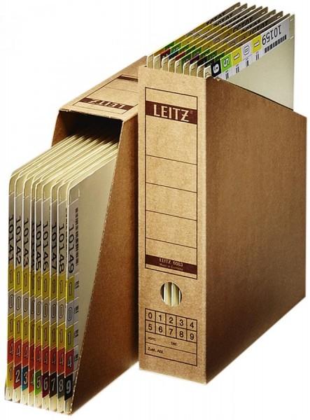 LEITZ Archiv-Stehsammler, DIN A4, aus Wellpappe, natron